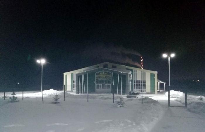 Освещение в Агропромышленном парке г. Заинск.