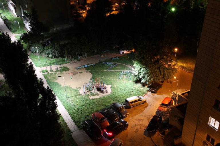 Дворовое освещение реализованное при помощи приложения «Народный Контроль».