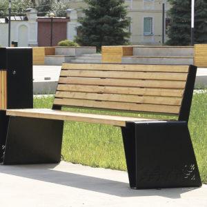 Садовая скамейка ПР1 (со спинкой)